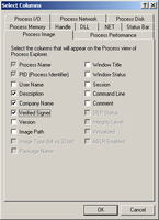 Process Explorer grafos pridėjimas 2