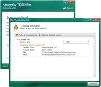 TDSSKiller programos rezultatai. Rastas įtartinas           failas. sptds.sys - Daemon Tools paketo failas