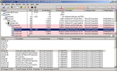 Process Explorer sertifikatų tikrinimo rezultatas 2